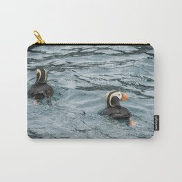 Tufted Puffin Pair Carry-All Pouch