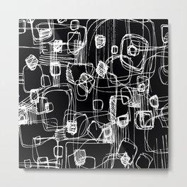 Scribble Doodle No.3 by Kathy Morton Stanion Metal Print