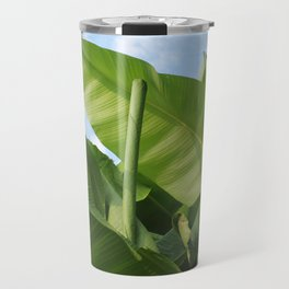 Banana Trees with Blue Skies, V38 Travel Mug