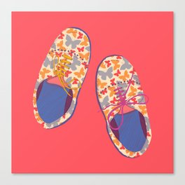Butterfly Shoes Canvas Print