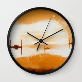Tie Sunset Wall Clock
