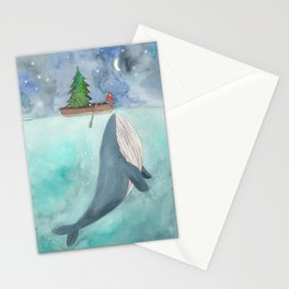 When a whale likes Christmas Stationery Cards