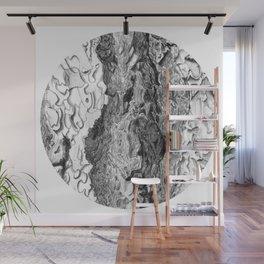 Ponderosa Pine- Tree Bark Circle Wall Mural