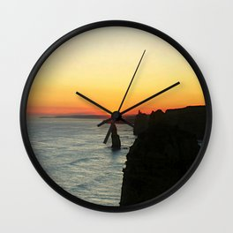 Sunset over the Great Southern Ocean Wall Clock