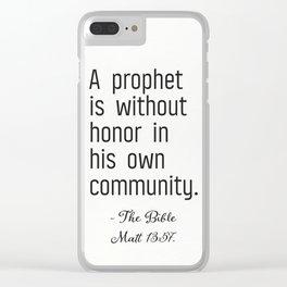 Bibble vers Matt 13:57 Clear iPhone Case