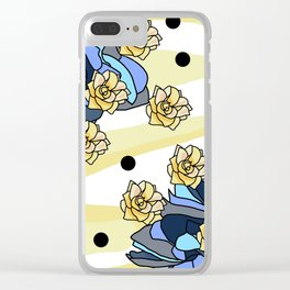 Vintage Style Roses Clear iPhone Case