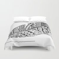 writer Duvet Covers featuring Writer Love by Vermont Greetings
