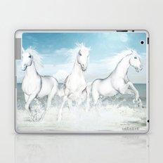 White Horses of the Camargue Laptop & iPad Skin