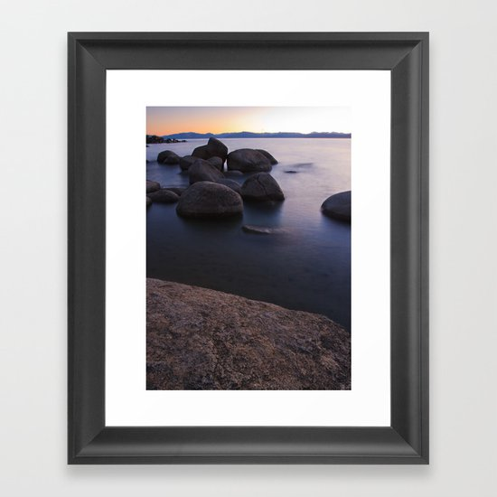 Bonsai Rocks Framed Art Print