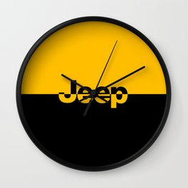 Jeep 'LOGO' Yellow Wall Clock