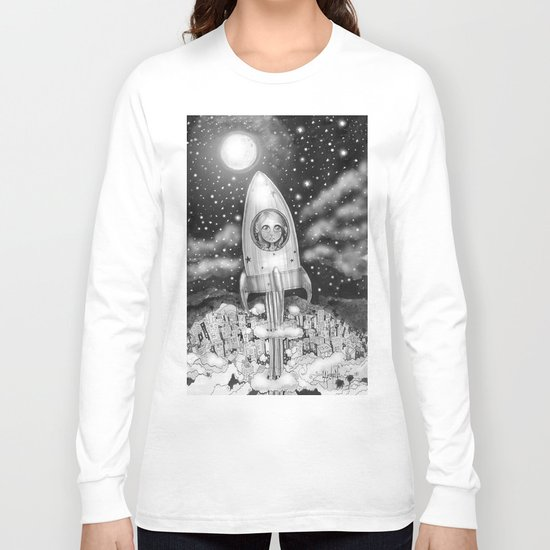 Running Away From Home In A Rocket Ship Long Sleeve T-shirt