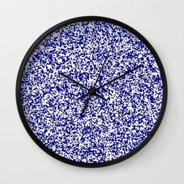 Tiny Spots - White and Dark Blue Wall Clock
