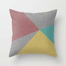 Concrete & Color Throw Pillow