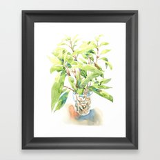 A glass of plant Framed Art Print