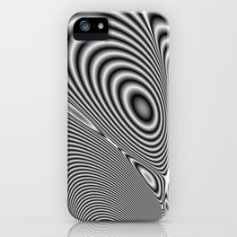 Fractal Op Art 1 iPhone Case
