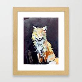 Fox Totem Framed Art Print
