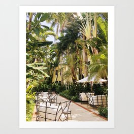 Brazilian Court Hotel Art Print