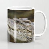 crocodile Mugs featuring Crocodile  by Bunny+Bear Photography