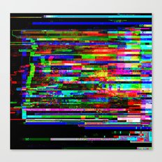 Angry Pixels Canvas Print