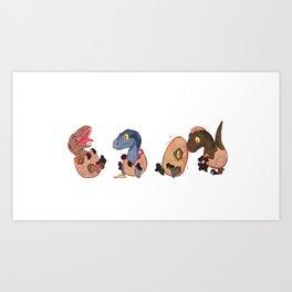 Raptor squad Art Print