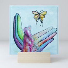 American Sign Language BUTTERFLY Mini Art Print