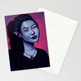 Portrit of Amara Stationery Cards