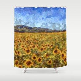 Vincent Van Gogh Sunflowers Shower Curtain