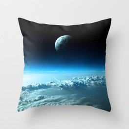 Outter Earth Throw Pillow
