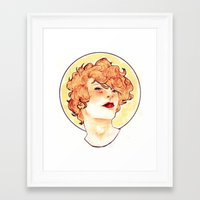 enjolras Framed Art Prints featuring Enjolras by chazstity