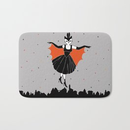 Flying over the city Bath Mat