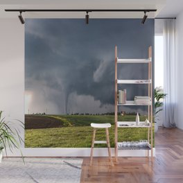 Twins - Two Tornadoes Touch Down Near Dodge City Kansas Wall Mural