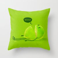 lime green Throw Pillows featuring Lime by Lime
