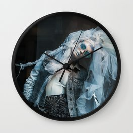 The Blue Lady Dances Wall Clock