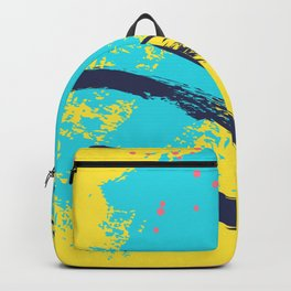 Yellow contrast splash Backpack