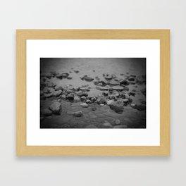 the shallows // river rocks Framed Art Print