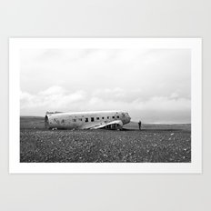 Iceland Plane Wreckage Art Print
