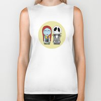 nightmare before christmas Biker Tanks featuring Nightmare Before Christmas by Big Purple Glasses