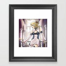 Elfe rose Framed Art Print