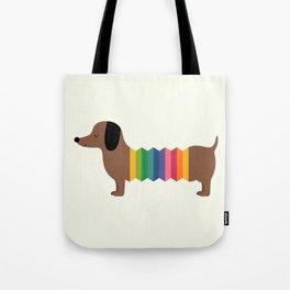 Rainbow Dooooog Tote Bag