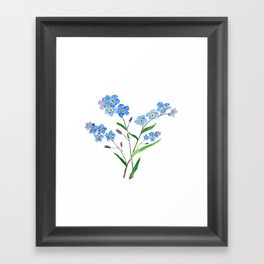 forget me not Framed Art Print