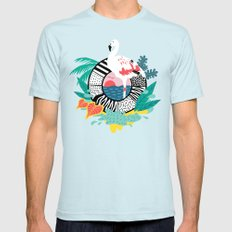 Flaming-oOO Light Blue Mens Fitted Tee SMALL