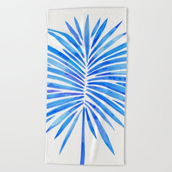 Tropical Fan Palm – Blue Palette Beach Towel