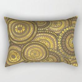 Circular Ethnic  pattern pastel gold Rectangular Pillow