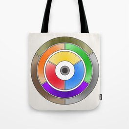 The theory of colouring - Diagram of colour by J. Bacon, 1866, Remake (no text) Tote Bag
