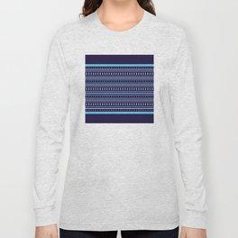 Stripes Pattern #206 (navy blue) Long Sleeve T-shirt