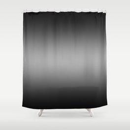 Black to White Horizontal Bilinear Gradient Shower Curtain