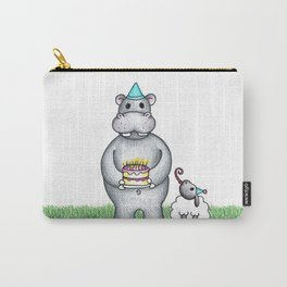 Hippo Birthday Carry-All Pouch