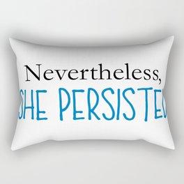 Nevertheless, She Persisted - Blue Rectangular Pillow