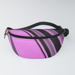 Pink and Black Slick Fanny Pack