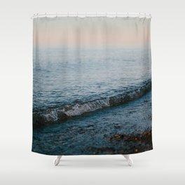 Dusk Waves // Upper Peninsula, Michigan Shower Curtain